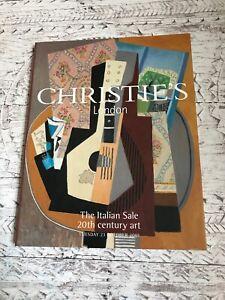 Christies 2001 The Italian Sale. 20th Century art Auction Catalogue 23 October