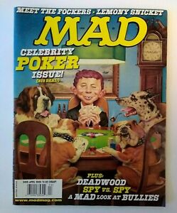 MAD Magazine April 2005 # 452 Celebrity Poker Dogs Meet The Frockers Deadwood