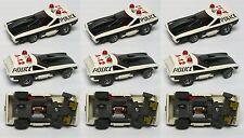 3pc 1976 Aurora AFX G+ Smokie's POLICE VEGA Slot Car Screecher Magna-steer 5781
