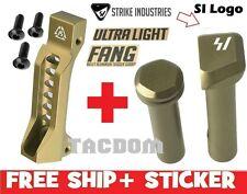 Strike Industries FANG FDE Aluminum Trigger Guard + Ultralight Pivot Pins take