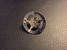 "US MARSHAL SPECIAL DEPUTY SILVER STAR  LAPEL PIN.  1"" NEW !!"
