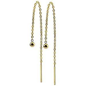 """Asymmetric Drop Chain Earrings Women Falling Dangle Ball 3.1"""" Long Chain"""