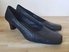 "Clark's Shoes size 8D black heel 2"" square toe"