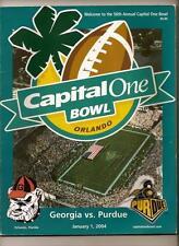 2004 Capital One Bowl Game Program Georgia Purdue