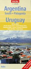 NEW 2008~MAP of ARGENTINA SOUTH~PATAGONIA~URUGUAY,by Nelles~Plus Detail Maps