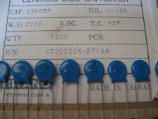 Lot 10 Condensateur Céramique 2.2NF 2200pF 2000V 2KV 10% Y5P réf: KB3D222K-B716A