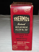VINTAGE  1950S THERMOS BRAND REPLACEMENT FILLER NO 20F 10 OZ VACUUM  IN BOX