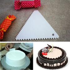 2Pcs Fondant Cake Pizza Side Scraper Icing Sugarcraft Decorating Tool  AU