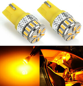 JDM ASTAR T10 Wedge 194 168 2825 Yellow Amber 18- LED Side Marker Lights Bulbs