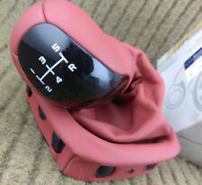 NEW Genuine Mercedes Red Leather 5 Spd Manual Gear Knob W168 A Class 1683640710