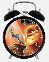 "Disney Lion King Alarm Desk Clock 3.75"" Home or Office Decor W331 Nice For Gift"