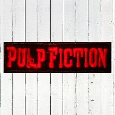 Pulp Fiction Word Logo Embroidered Patch Vincent Jules Quentin Tarantino Film