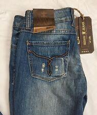 Zana Di Jeans Size 5 Skinny Distressed Vintage Medium Wash NWT