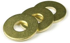 Brass Flat Washer 3/8 Small, Qty 25