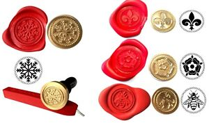 Wax Stamp Seal FLAT COIN ONLY 350+ Design Choices Coins (NO Handle or Wax) XWSC