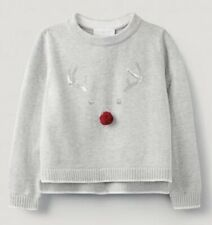 💗 The Little White Company 💗 Sequin Jingles Reindeer Jumper 5-6 Yrs BNWT