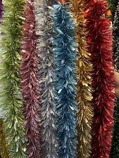 2m (6.5ft) Tinsel Christmas Tree Decorations Xmas Garland Matte Colour N0.2