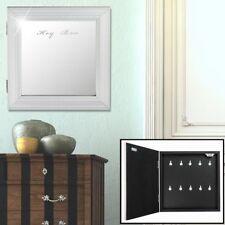 Design key box 10x hook storage hallway mirror front antique wall shelf white