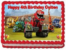 DINOTRUX EDIBLE frosting sheet CAKE TOPPER BIRTHDAY DECORATIONS