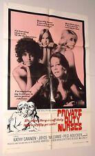 PRIVATE DUTY NURSES 1971 MOVIE POSTER hospital sexploitation KATHY CANNON