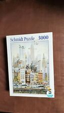 1986 Schmidt 3000 Piece Puzzle  New York City W/Twin Towers No. 02777 NIB Sealed