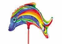 Folienballon Delphin Fisch Heliumballon Luftballon Dolphin Kindergeburtstag