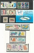 Worldwide: Small lot of stamps + S.S thematic flags, coats and maps mint.Wo253