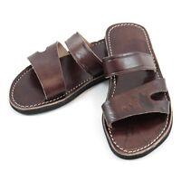 Sandales homme marocaines en cuir marron - leather sandals / flip flop