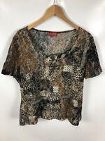 TAIFUN COLLECTION Damen Shirt, Größe 44, mehrfarbig, schick, fein, luftig