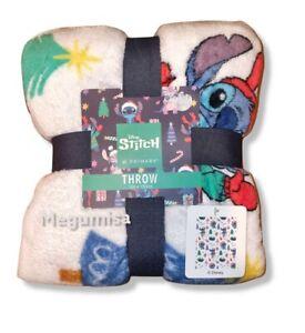 Primark Stitch Christmas Throw Soft Fleece Blanket 120x150cm Lilo Angel Stitch