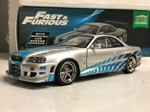 Brian's 1999 Skyline GTR R34 BNR34 LED Ground Effects Lights 1/18 Fast & Furious
