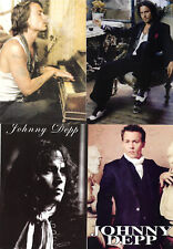 JOHNNY DEPP - FOUR DIFFERENT SEXY POSTCARDS !!!