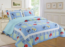 ALL FOR YOU Reversible Bedspread, Coverlet,Quilt *26* Car w/ pillow sham