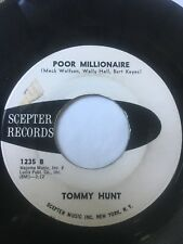 """Northern Soul Promo 45/ Tommy Hunt """"Poor Millionaire""""   Clean!  Hear"""