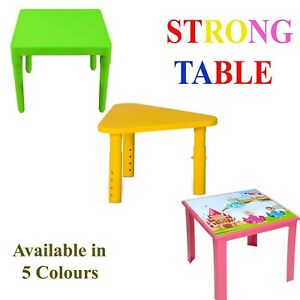 Strong Kids plastic Table indoor & outdoor for study Garden Removable Legs