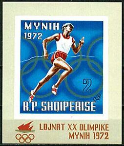 Albania 1971 MNH Imperf SS, No Gum, 1972 Munich Olympics, Sports (Y7n)