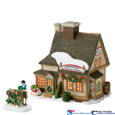 Dept 56 New England Village Partridge Wreath Shop Set Retired 4016903