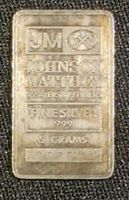 Johnson Matthey JM 5 Gram Silver .999 Bar