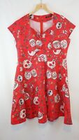 Sugar Skull Dress 4X plus Womens IHOT Red Day of the Dead
