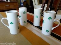 4 Vintage LA GARDO TACKETT SCHMID SHAMROCK IRISH COFFEE ESPRESSO CUPS GREEN DEMI