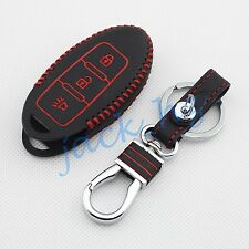 3 Buttons Key Bag Case Chain Fob Fit For Nissan March Versa Qashqai Rogue Murano
