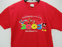 2003 Walt Disney World Men's Size XL T Shirt Mickey Mouse Donald Duck Goofy