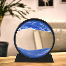 Moving Liquid Sand Glass Frame Home Wall Decor 3D Scenery Painting Hourglass UK