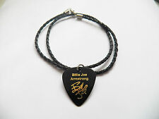 BILLIE JOE ARMSTRONG guitar pick plectrum braided twist LEATHER NECKLACE 20""