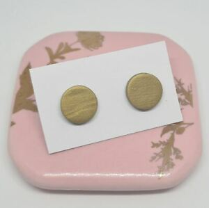 Polymer Clay Studs - Gold
