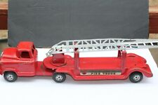 NICE VINTAGE 1950'S  BUDDY L GMC  EXTENSION LADDER FIRE TRUCK