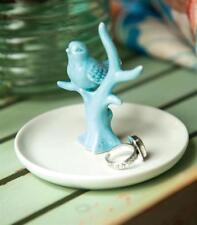 Bird on Branch Ceramic Ring Dish, Jewelry Holder, by Manual