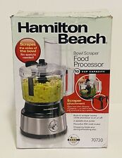 Hamilton Beach 70730 10-Cup Food Processor & Vegetable Chopper w/Bowl Scraper