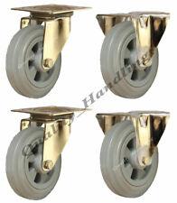 200mm Castors Polyurethane nylon 4 swivel 300kg heavy duty 1200kg set set of 4