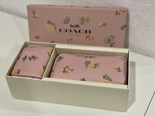 Coach Boxed Cosmetic Case Set With Dandelion Floral Print 2516